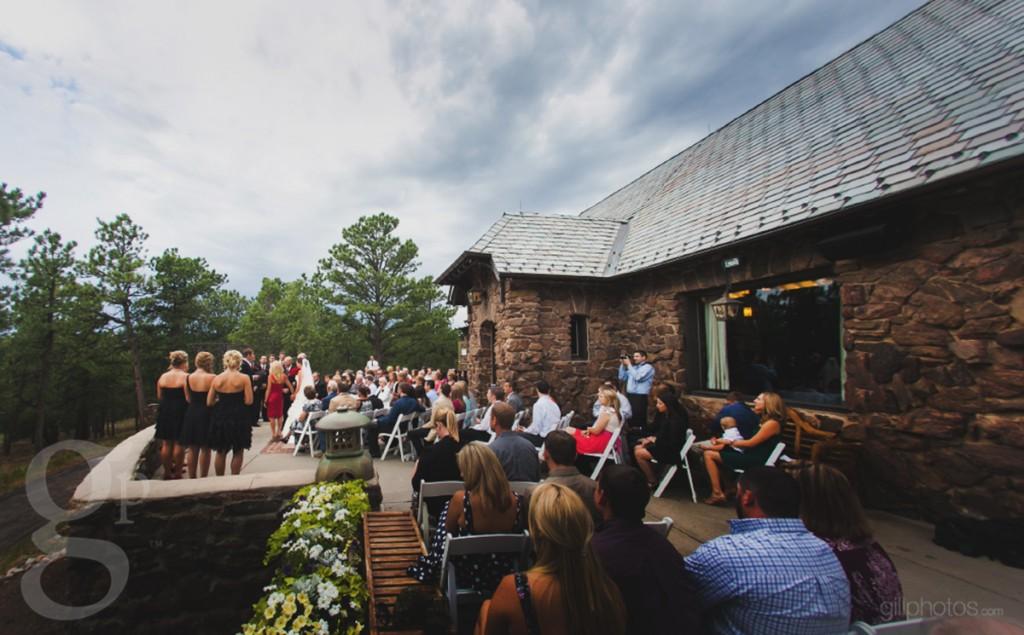 Wedding ceremony at Boettcher Mansion