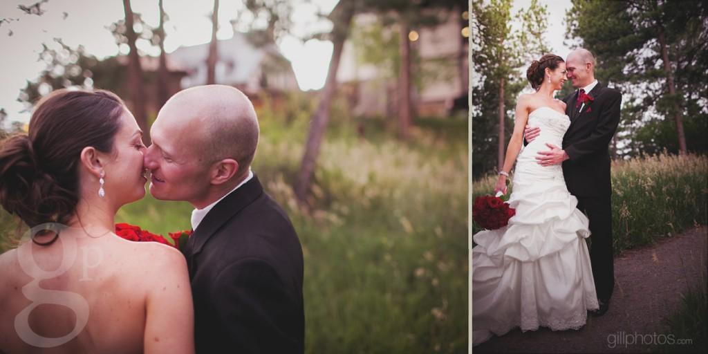 A wedding kiss at Boettcher Mansion