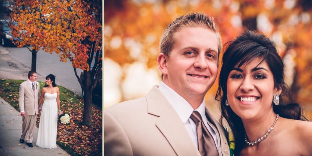 Fall leaves Wedding in Denver, CO
