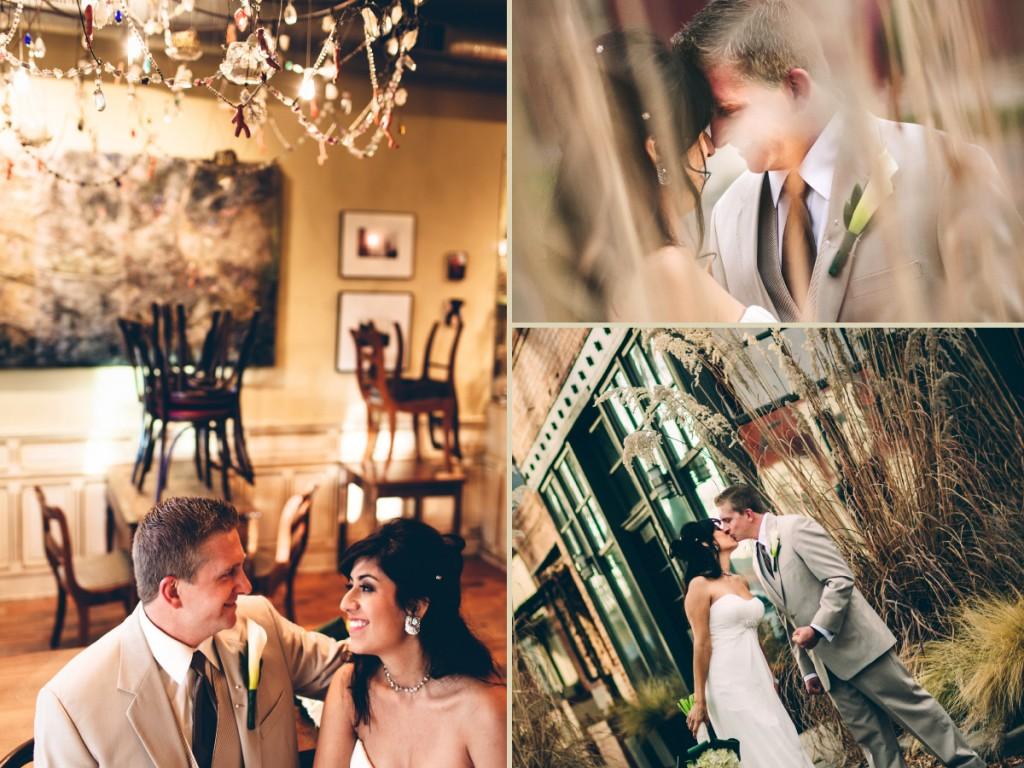 Wedding couple in Highlands, Denver CO