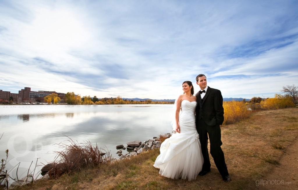 Bride at Sloan's Lake in Denver