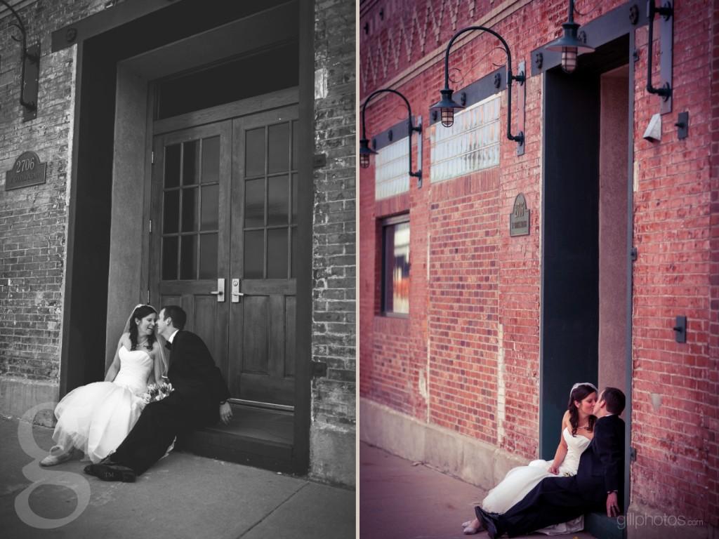 Fun wedding photos in downtown Denver