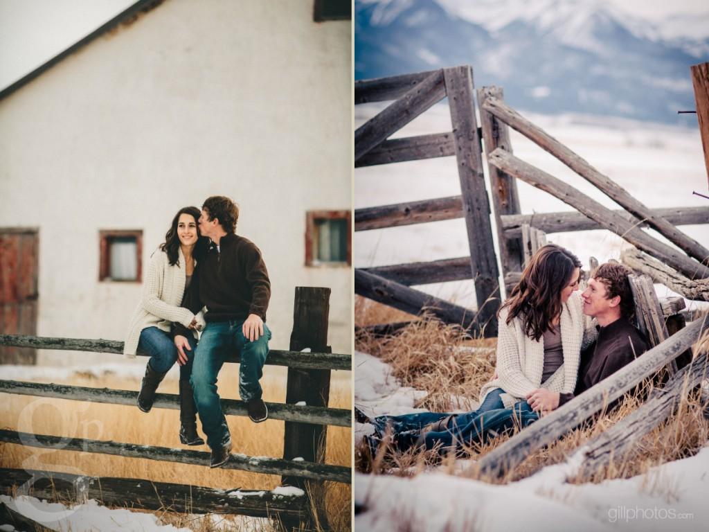 Barn Engagement Photo