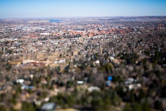 Tilt Shift Colorado University Campus