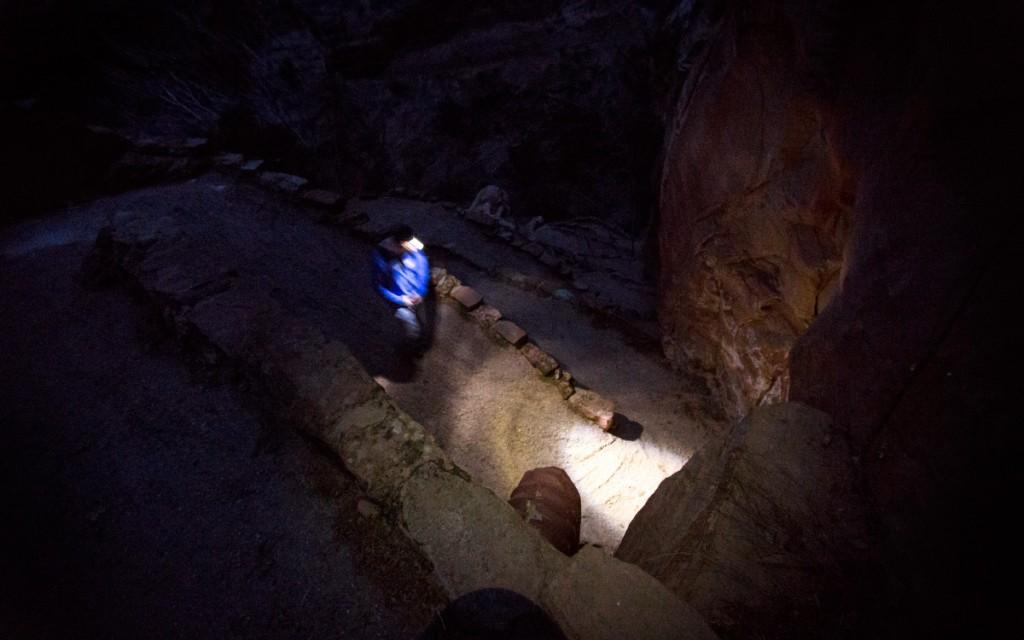 Hiking Zion at Night