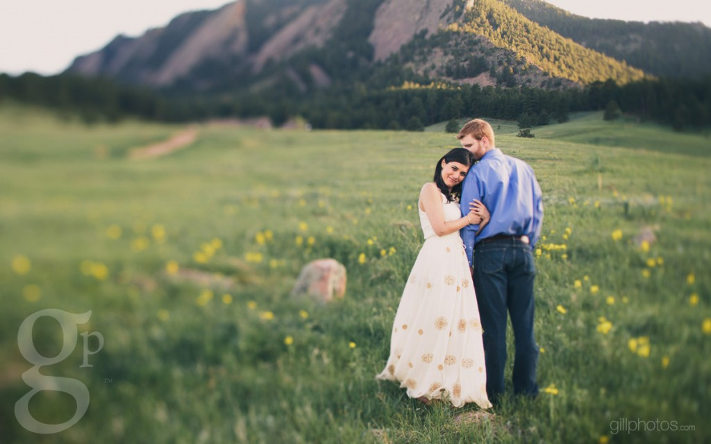 Spring engagement at the Flatirons