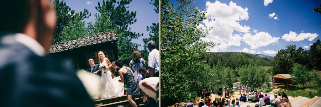 Wild Basin Lodge River Wedding