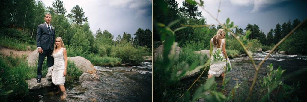 Wedding next to a river