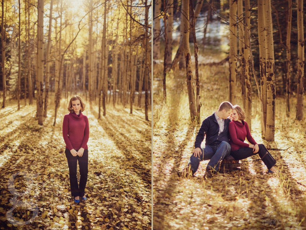 Fall Engagement from Meyer Ranch Park in Conifer, CO