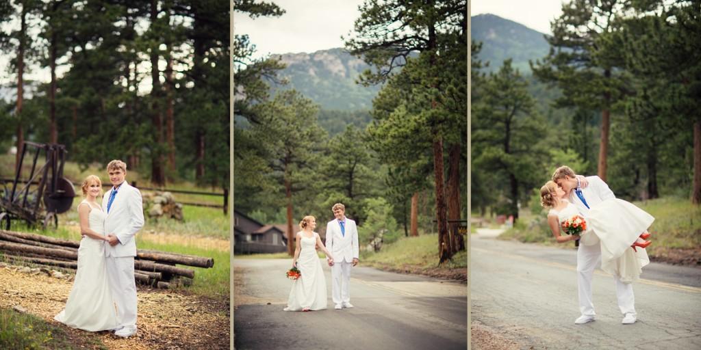 Mountain Wedding Photo at Wild Basin Lodge