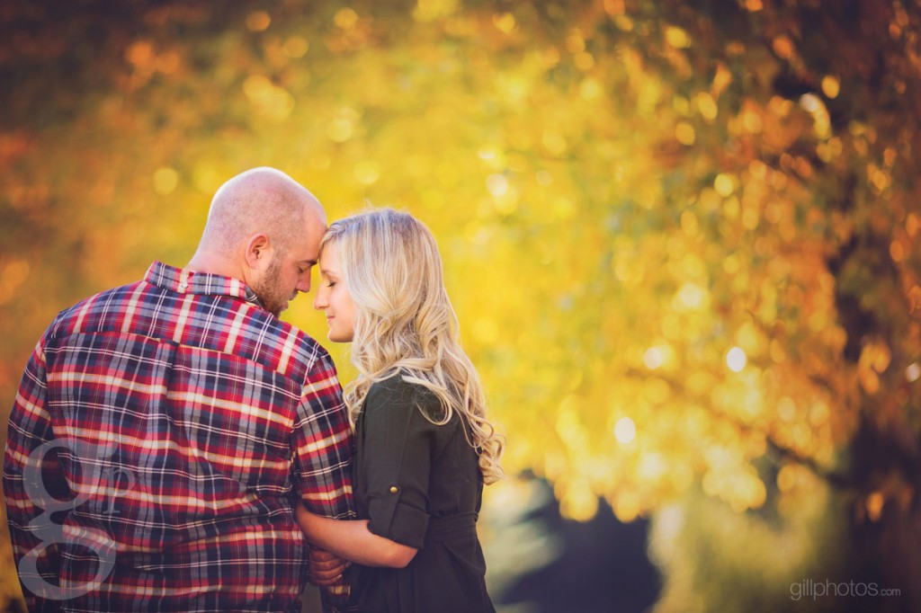 Carbondale Fall Engagement Photo