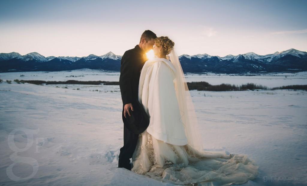 Winter Wedding in Westcliffe, CO