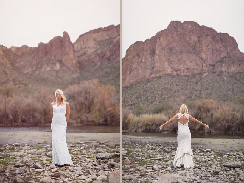 Salt River Wedding Dress Shoot