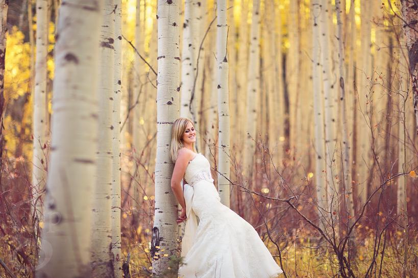 Beautiful Fall Wedding Photo