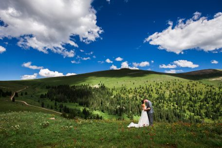 Ptarmigan Pass Wildflower Wedding at Camp Hale, CO