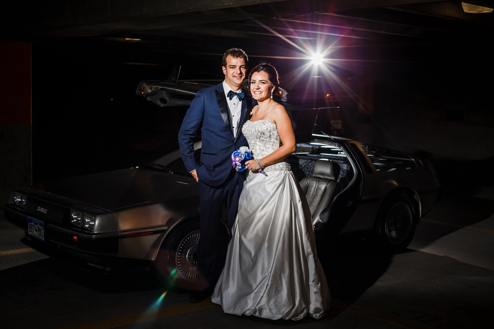 Delorean Wedding Photo