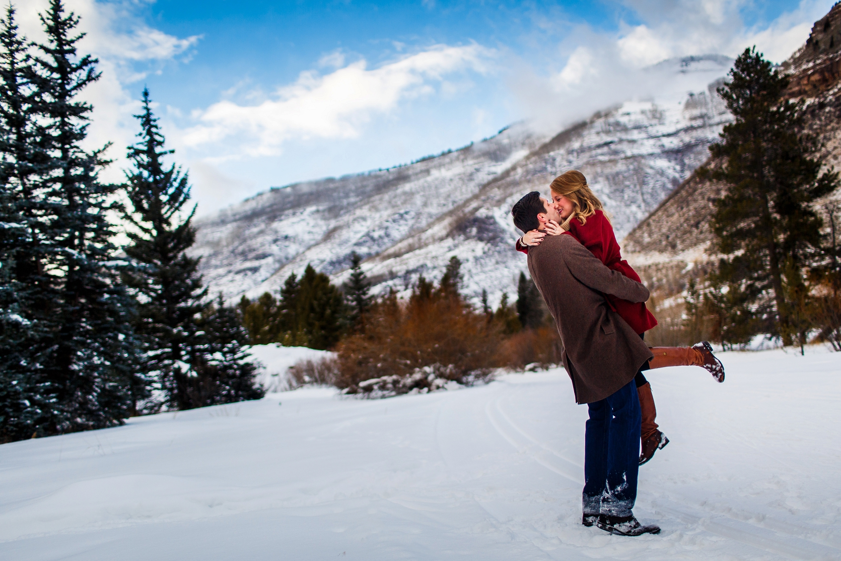 Winter Engagement in Vail