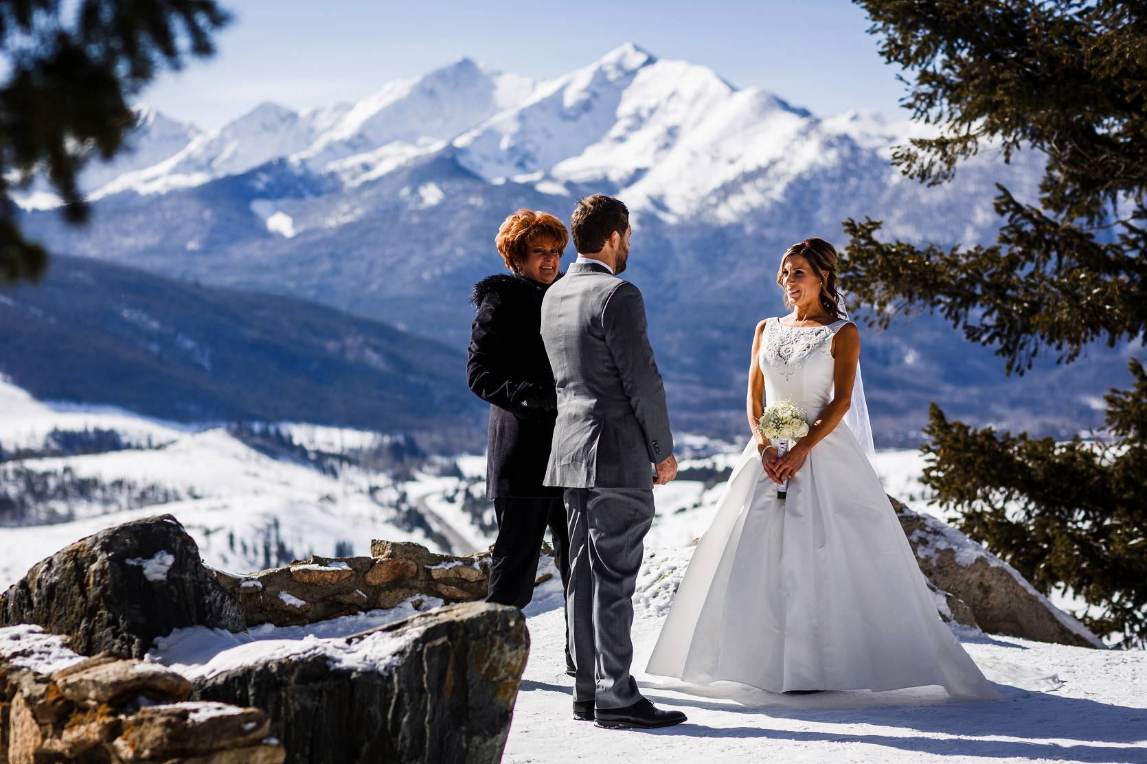 Kyle Amp Nickie S Breckenridge Elopement Wedding Top