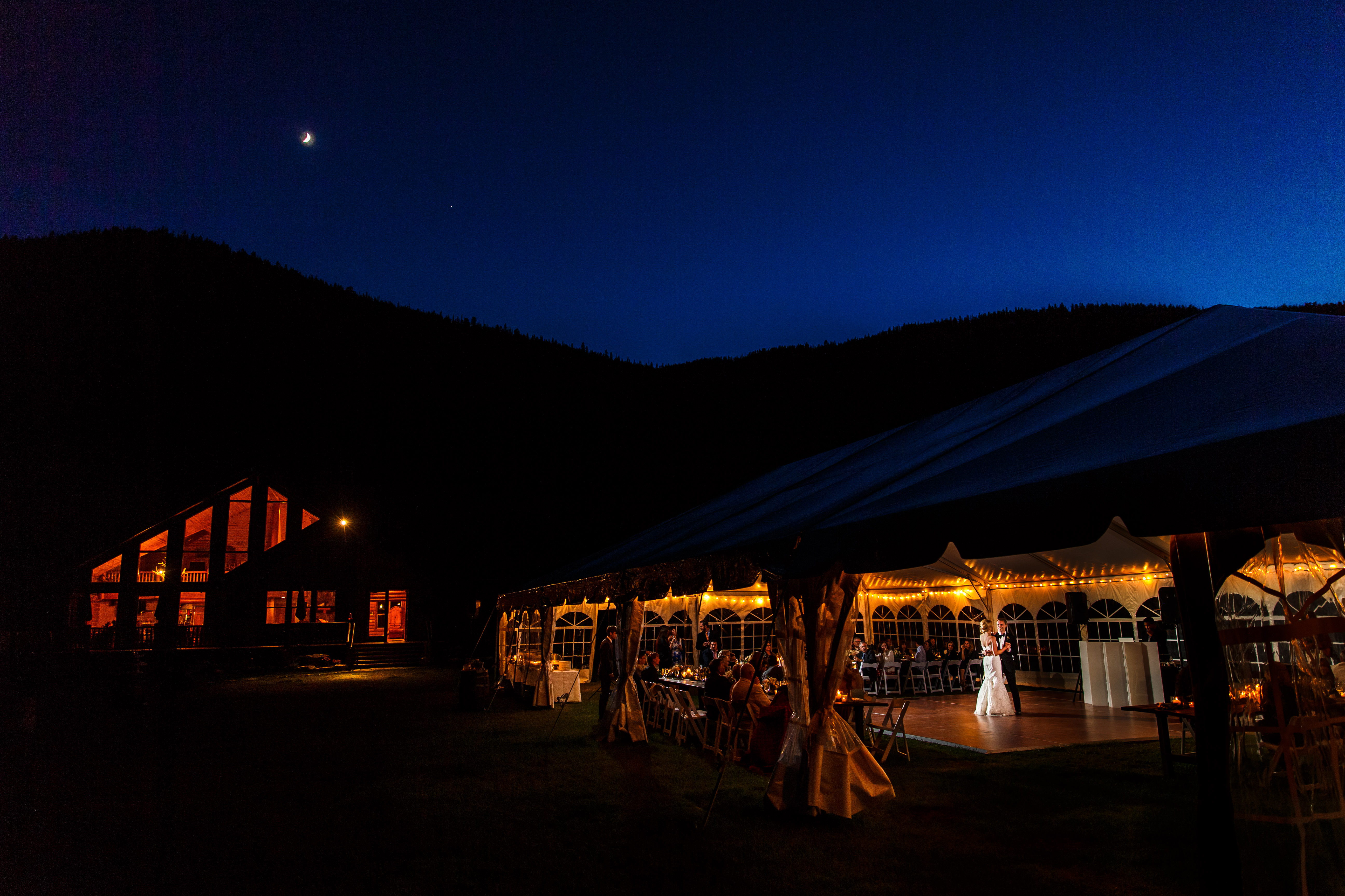 Camp Hale Wedding Reception in Tent