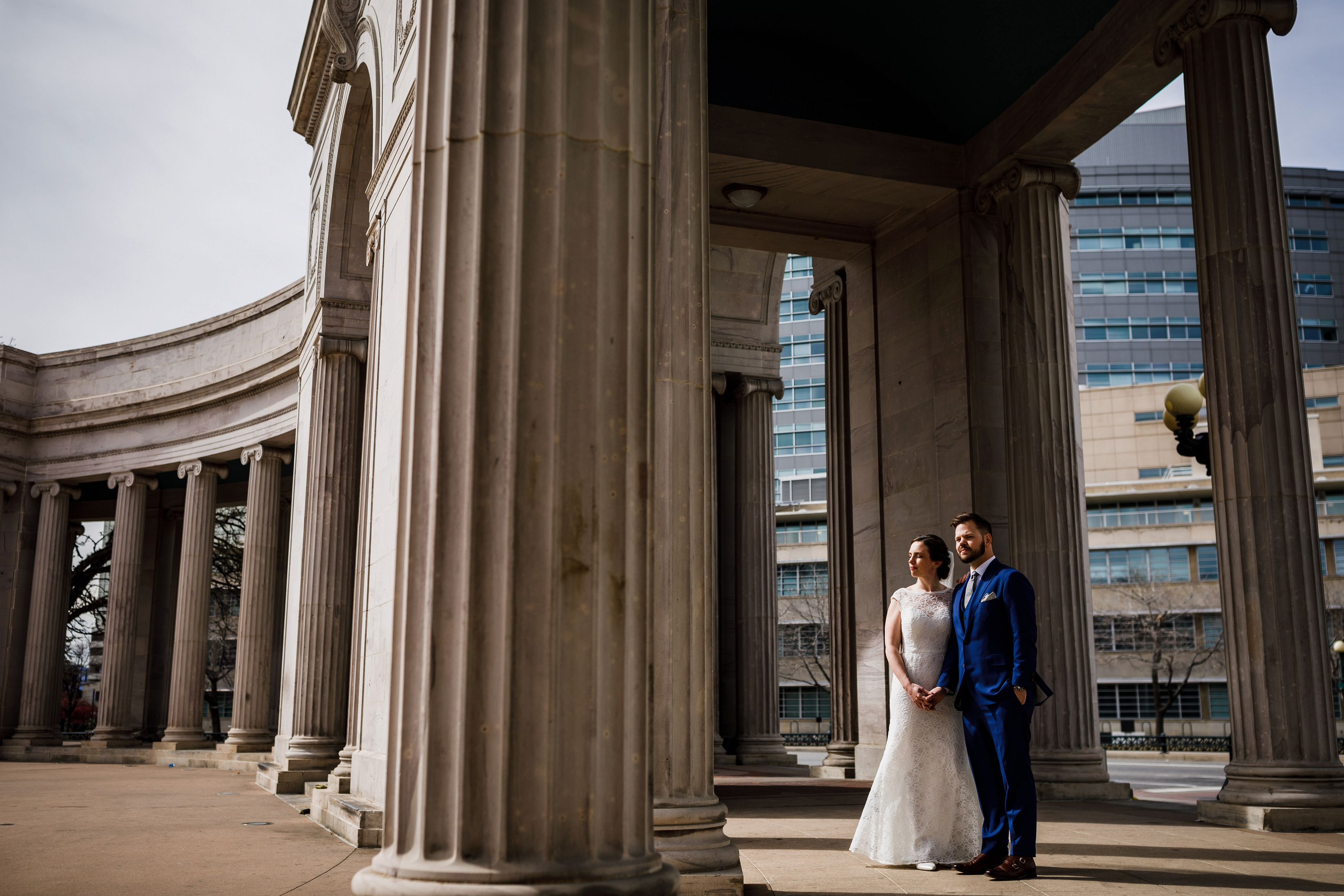 Civic Center Park Wedding Photo