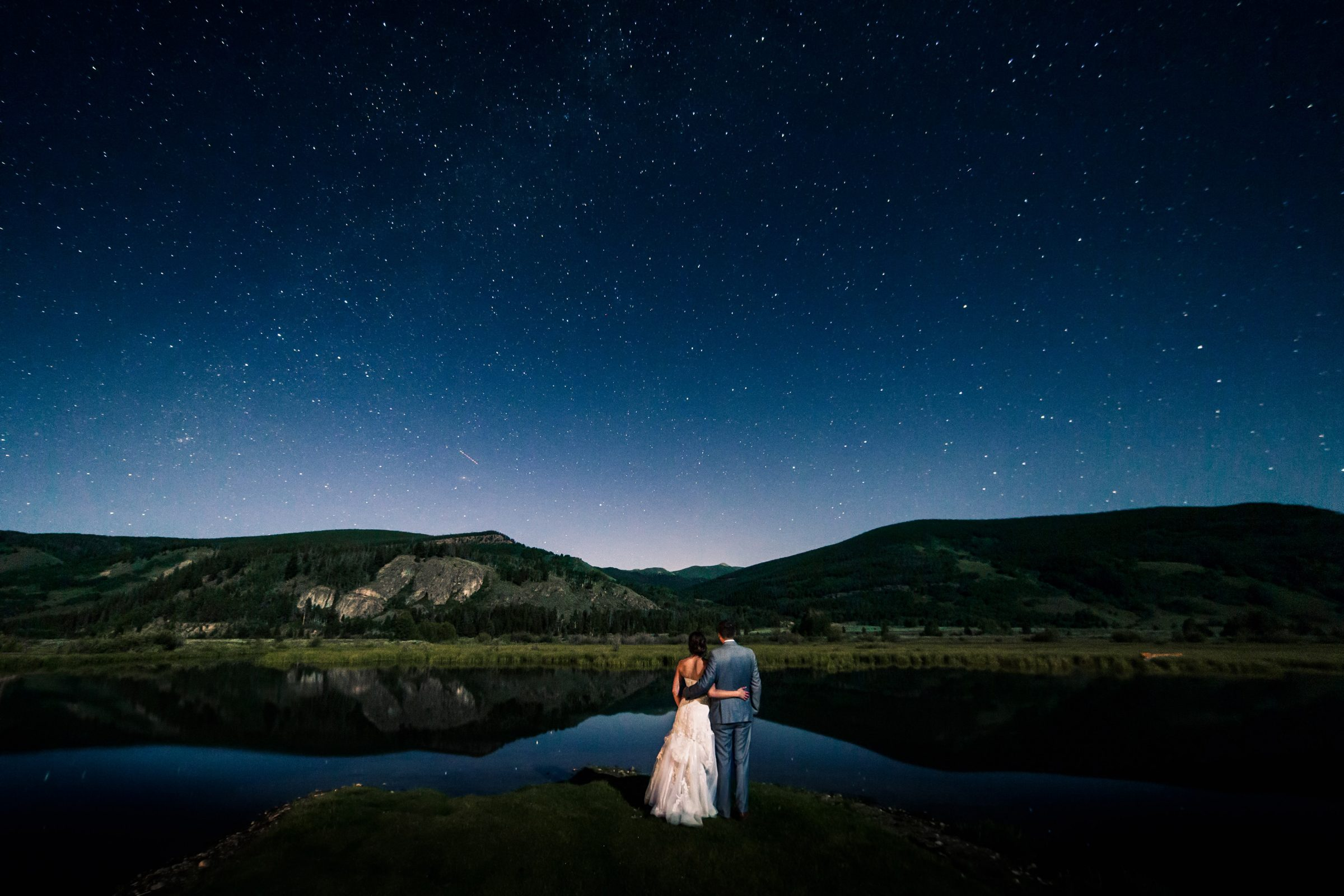 Starlight Wedding Photo at Camp Hale in Redcliff, CO
