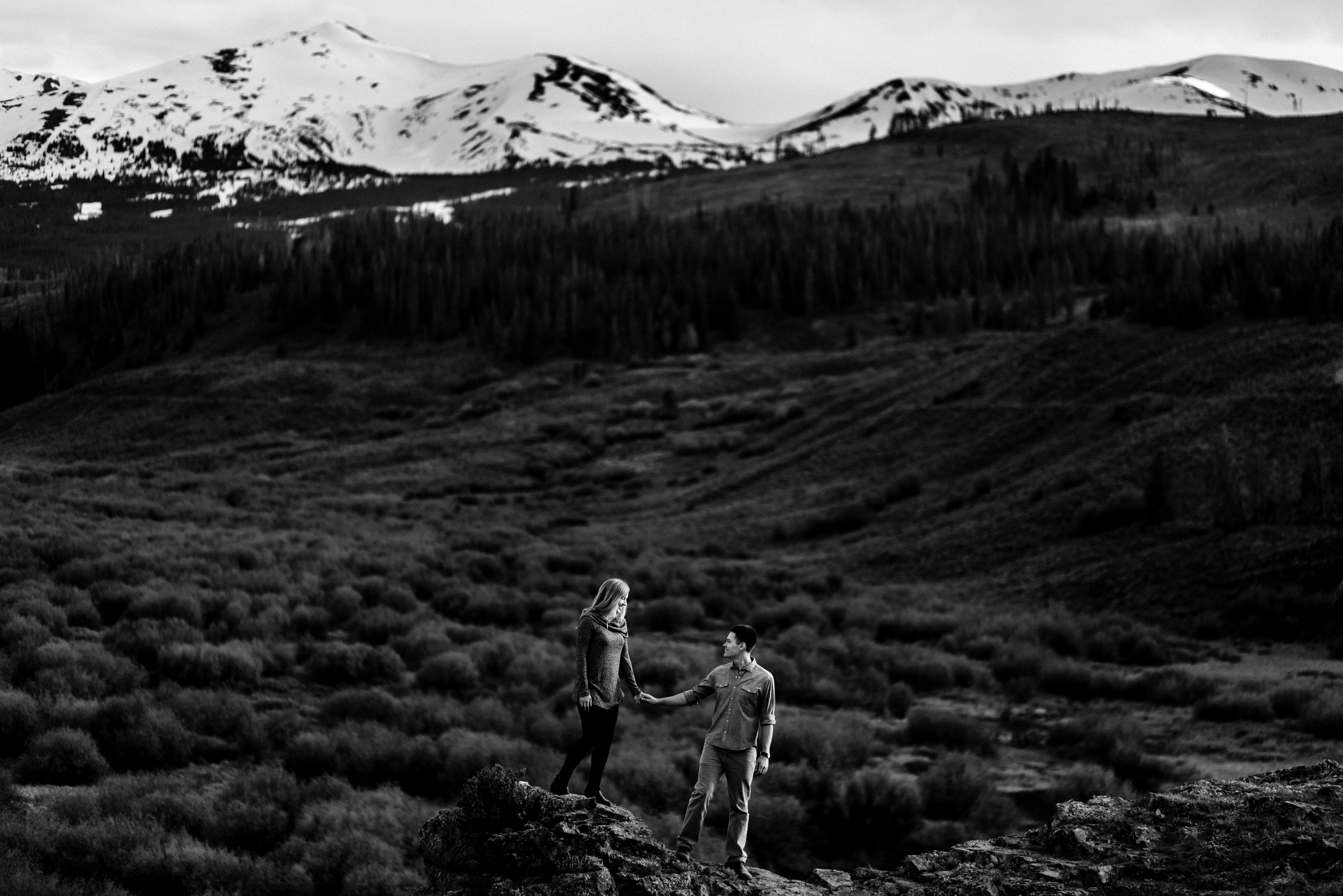 Gold Hill Trail Engagement in Breckenridge