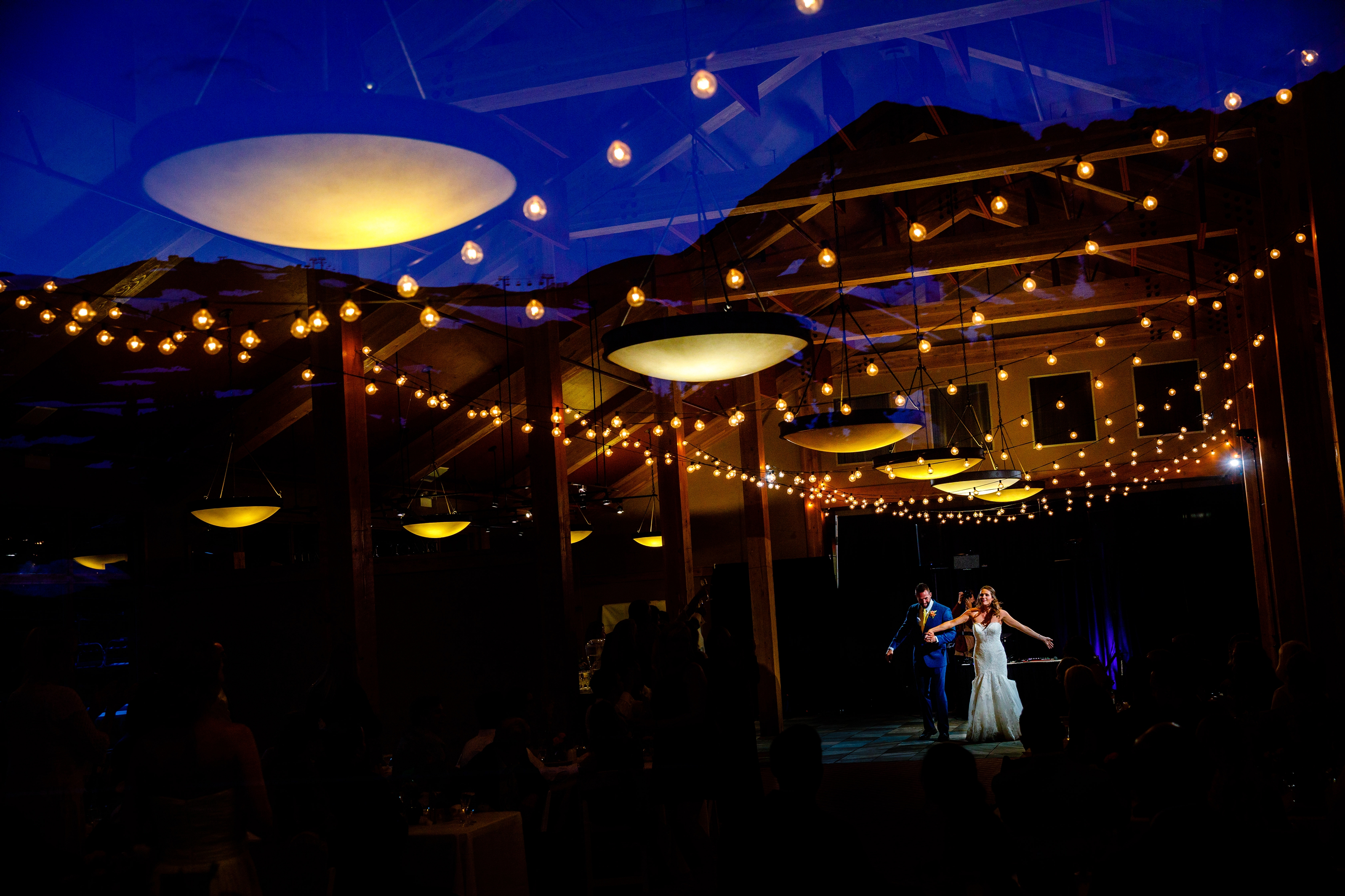 Couple's first dance at Black Mountain Lodge