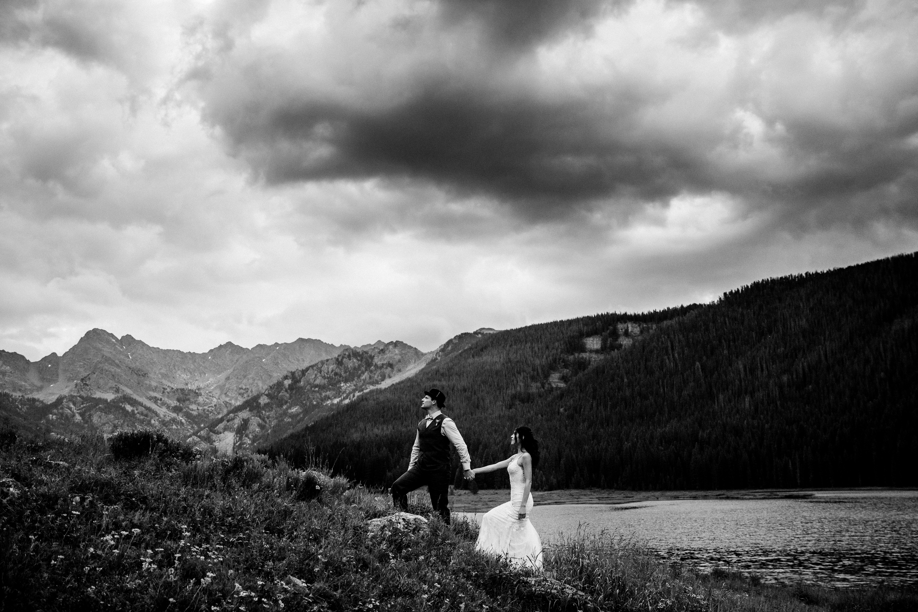 Bride & groom portrait at Piney River Ranch