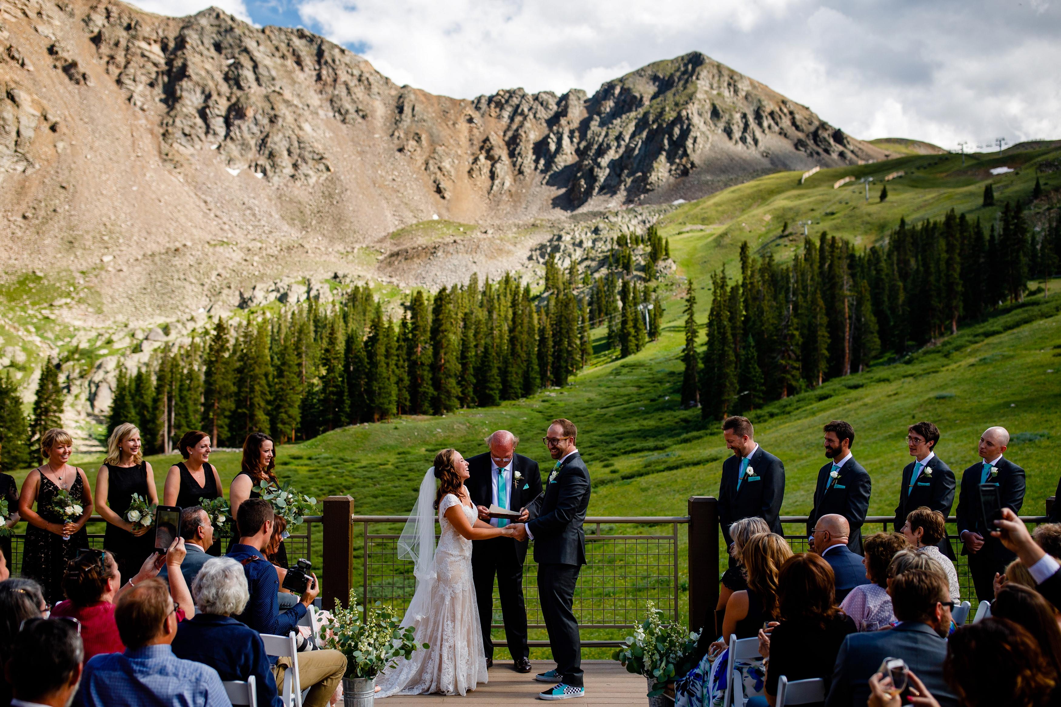 Erik Amp Amy S Black Mountain Lodge Wedding Top Colorado