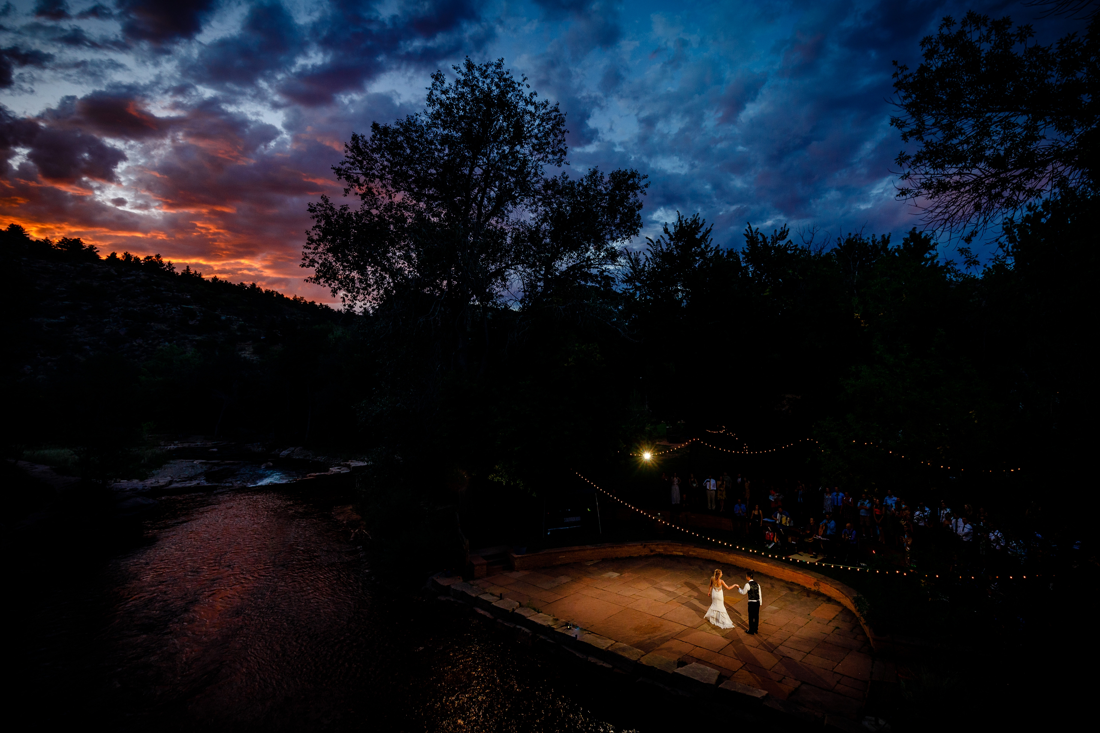 River Bend Wedding first dance photo in Lyons, CO