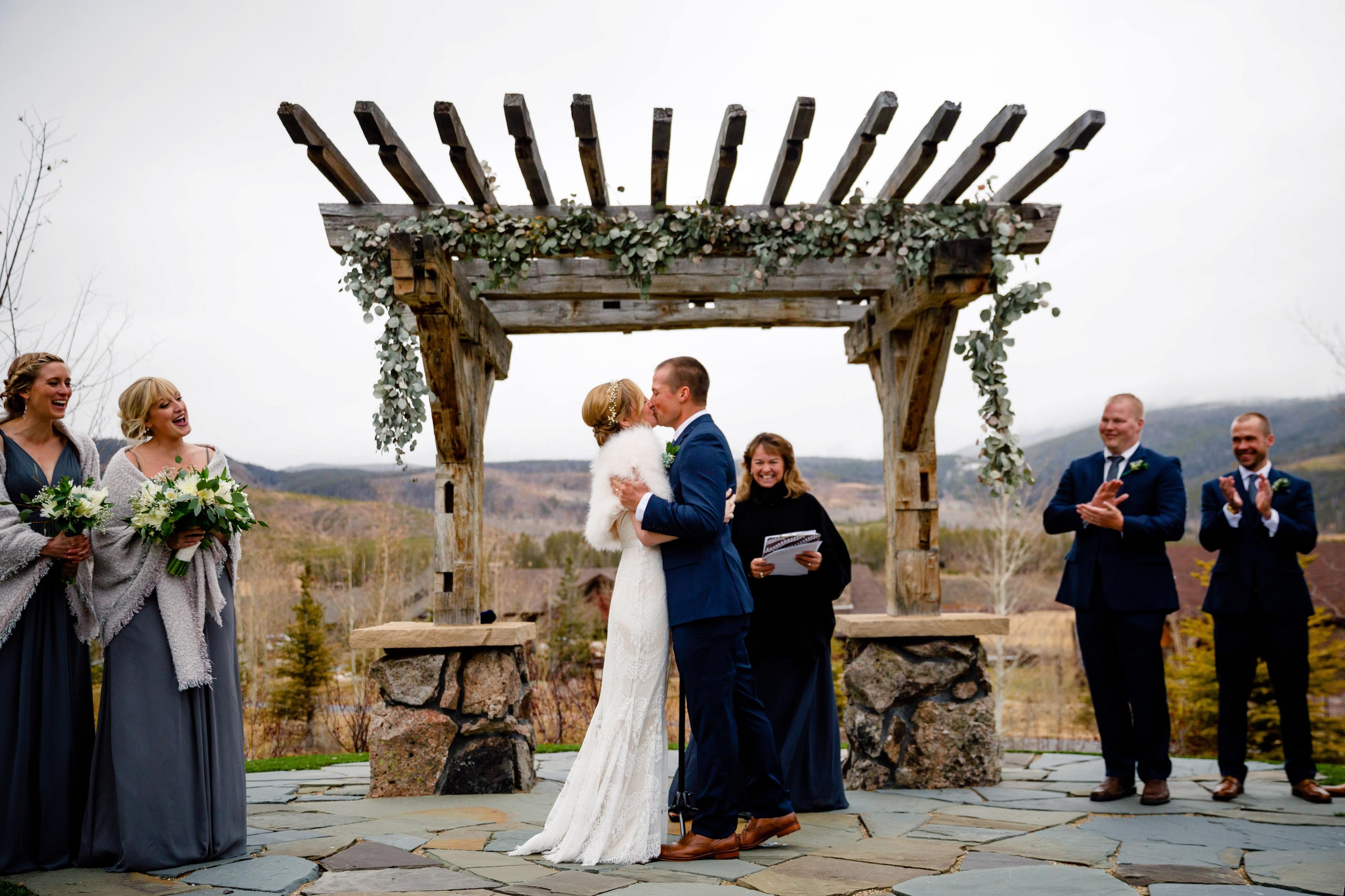 Dave & Audrey's Beautiful Fall Wedding at Devil's Thumb Ranch