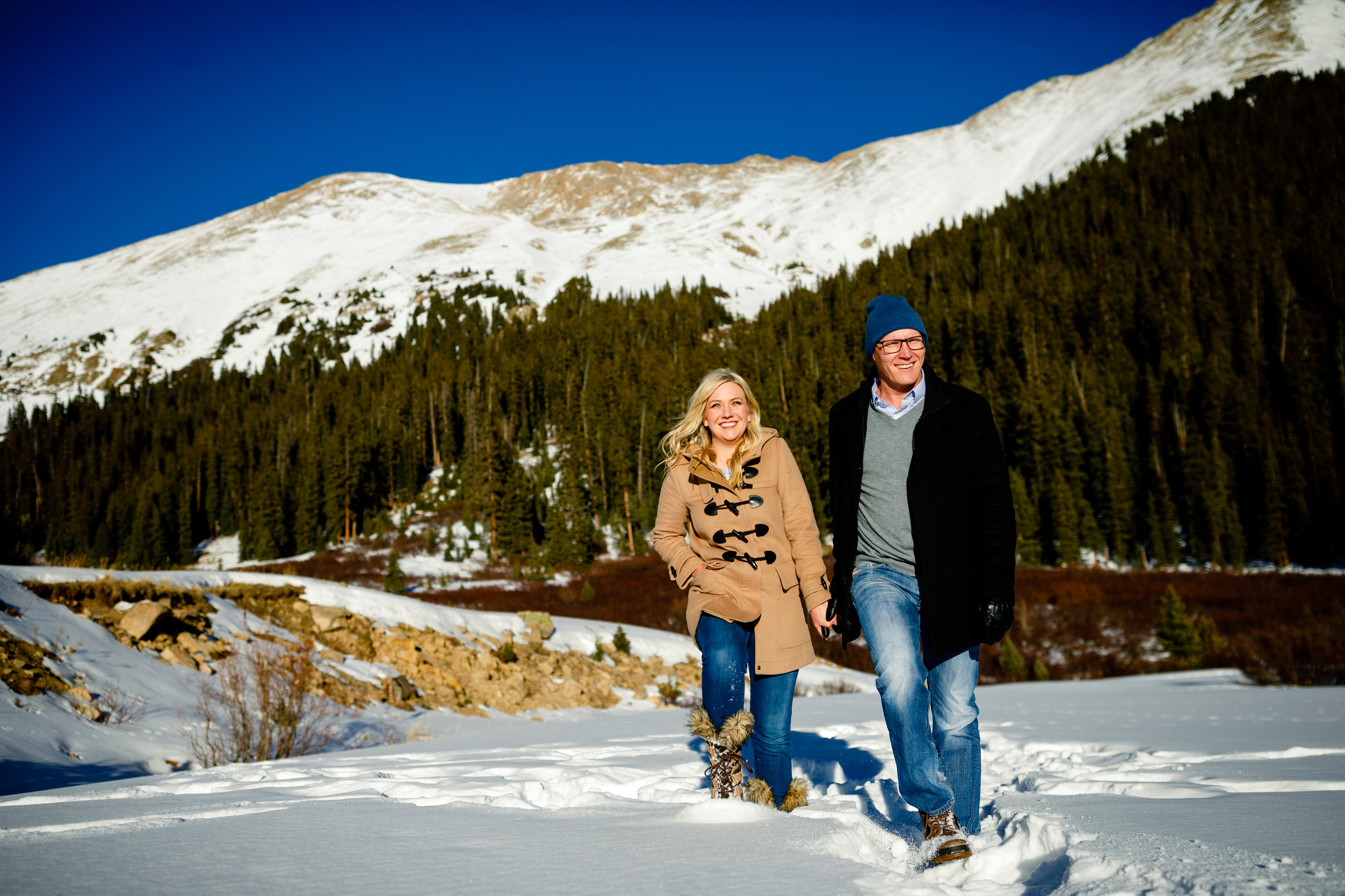 Photos taken near Arapahoe Basin during our Keystone Engagement session with John & Erin.
